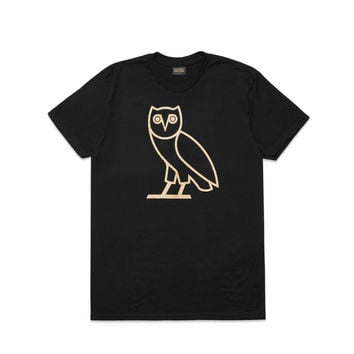 OWL LOGO T-SHIRT - BLACK