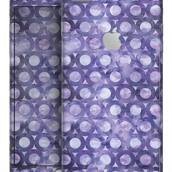 Purple Watercolor Ring Pattern - Skin-kit for the iPhone 8 or 8 Plus