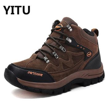 New Arrival Authentic Big Size Men's Hiking Shoes Lover's Mountain Outdoor Shoes Women's Suede Hiking Sneaker Shoes