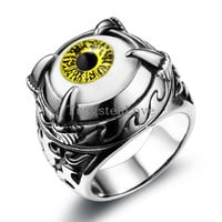 Dragon Claw Eyeball Evil Eye Ring