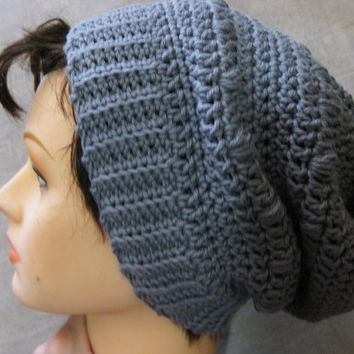 Puff Stitch Slouchy Hat Crochet Pattern