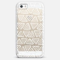 Stripey White Triangles (transparent) iPhone 5s case by Micklyn Le Feuvre | Casetagram