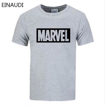 PEAPFS2 EINAUDI 2018 Summer New Fashion Brand Clothing Tshirt Men MARVEL Print Short Sleeve T Shirt Men Top quality Casual T-Shirts