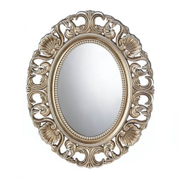 Wall Mirrors Decorative, Ornate Designer Oval Large Wall Mirrors For Bedroom