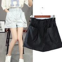 Stylish Korean Women's Fashion High Rise With Pocket Casual Pants Shorts [6047607169]