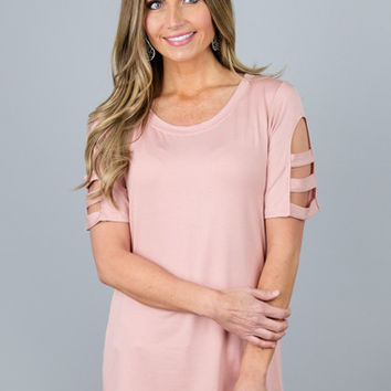 Modest Cut Out Sleeve Top