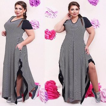 Fat MM Woman Summer casual clothing