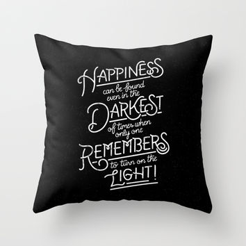 Happiness can be found Throw Pillow by WEAREYAWN