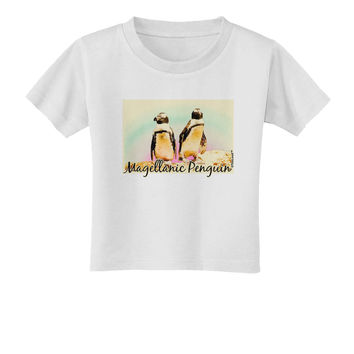 Magellanic Penguin Text Toddler T-Shirt