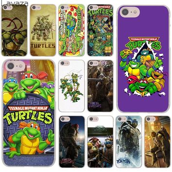 Lavaza TMNT Teenage Mutant Ninja Turtles Hard Cover Case for iPhone X XS Max XR 6 6S 7 8 Plus 5 5S SE 5C 4S 10 Phone Cases 8Plus