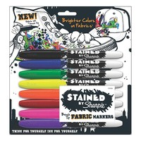 Sanford 8-piece Stained By Sharpie Fabric Marker Set