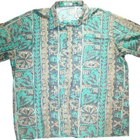 Vintage 90s Hawaiian Style Button Up Shirt Mens Size XL