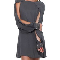 NO.9 OPEN SLEEVE DRESS
