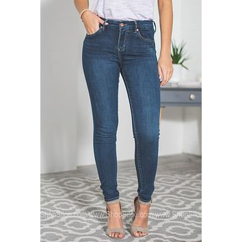 Dear John Comfort Skinny Dark Wash Denim