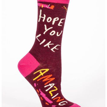 Hope You Like Amazing Women's Crew Socks