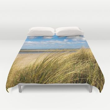 Beach whispers Duvet Cover by Tanja Riedel