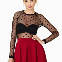 Seeing Spots Mesh Top