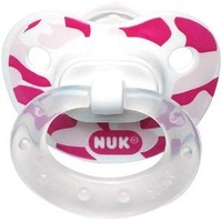 NUK Orthodontic Silicone Camouflage Pacifier Size 2 6-18m 2pk (Girls)