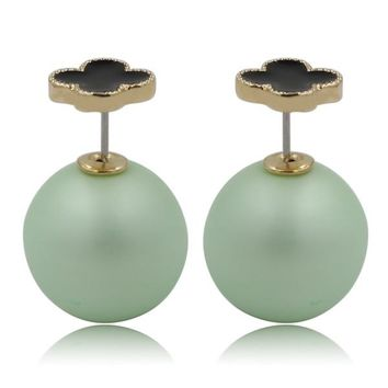 Mise en Dior Style Tribal v.s Van Cleef Earrings - Black & Matte Green