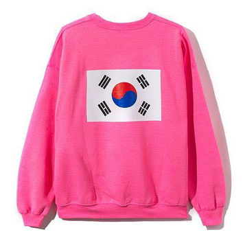 Korean Round-neck Winter Pullover Pink Couple Hoodies [9070622787]