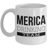 Merica Drinking Team Coffee Mug Ceramic Coffee Cup
