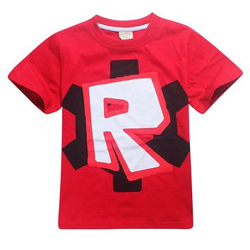 2018 kids teens clothes boys funny t shirt Roblox gta 5 cotton 12years