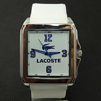 Lacoste Woman Men Fashion Quartz Movement Wristwatch Watch
