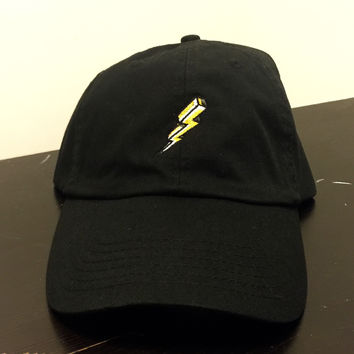 Black Lightning Dad Hat