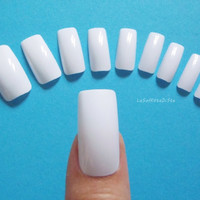 square nails squoval white base set squared nails white fake nails false nail acrylic nails artificial nail set nail art diy lasoffittadiste