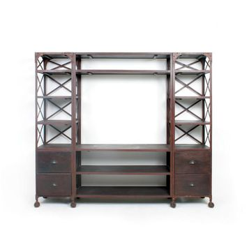 Rustic Factory Entertainment Unit