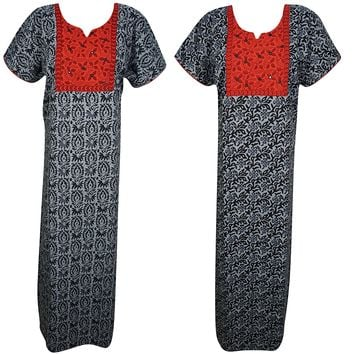 Dana Womens Cotton Nightgown Printed Kaftan Nightdress Maxi Dress Medium Lot of 2: Amazon.ca: Clothing & Accessories