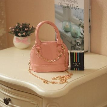 School Backpack PU leather princess children school bags kids messenger crossbody chain shell phone money pouches for kindergarten baby girls AT_48_3