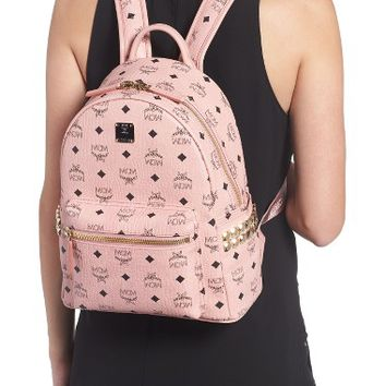 MCM Small Stark Side Stud Coated Canvas Backpack | Nordstrom