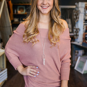 Love Always Sweater Tunic - Blush