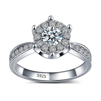 ON SALE - L'Amour 2.6 CT Cluster Set Simulated Diamond Solitaire Ring