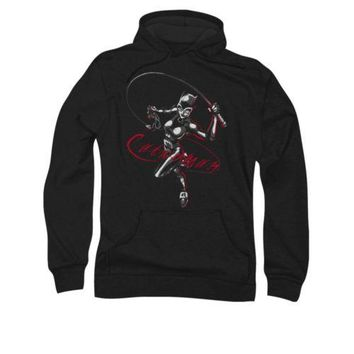 Batman Catwoman Kitted With Whip DC Comics Licensed Adult Pullover Hoodie
