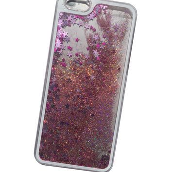 GLITTER RAIN IPHONE 5 / 6 / 6 PLUS CASE - HOLOGRAPHIC PINK – tibbs & BONES
