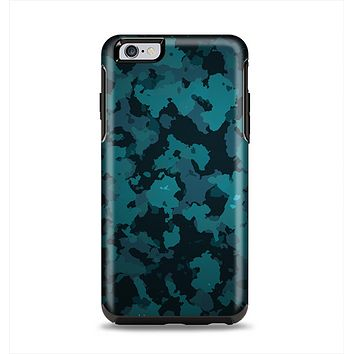 The Teal Vector Camo Apple iPhone 6 Plus Otterbox Symmetry Case Skin Set