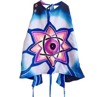 THIRD EYE HAND-PAINTED HALTER TOP