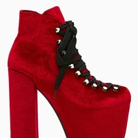 UNIF Hellbound Platform Boot - Red Velvet