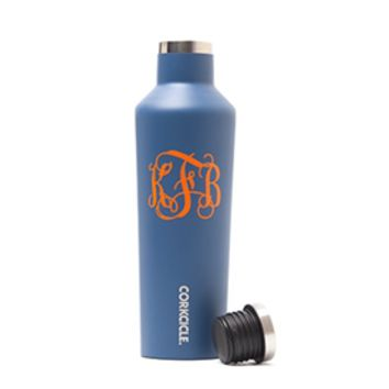 Monogram Corkcicle Water Bottle | Mad for Monograms