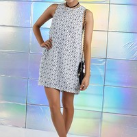 Deviation Dress Tessellation White