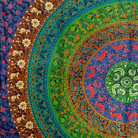 Mandala Tapestries, Bohemian Bedding, Psychedelic Tapestry, Printed Fabric, Wall Decor, Indian Bedspread Tapestry, Picnic Blanket