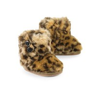 Mud Pie Baby-Girls Newborn Leopard Faux Fur Booties:Amazon:Clothing