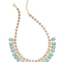 Bar III Gold-Tone Pastel Stone Frontal Necklace | macys.com