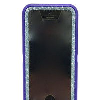 iPhone 5c OtterBox Defender Series Case Glitter Cute Sparkly Bling Defender Series Custom Case purple/ blue topaz