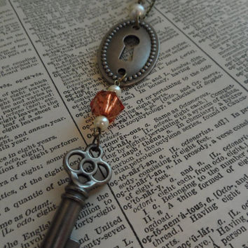 Lock and Key Necklace, Steampunk S22