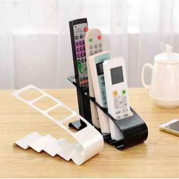 LS4G Practical Wrinkled 4 Section Home Appliance Remote Control Stand Holder Storage Stand Plastic