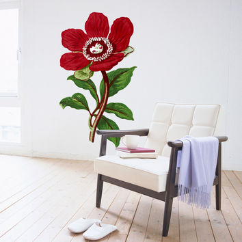 Amelie Flower Illustration Wall Decals