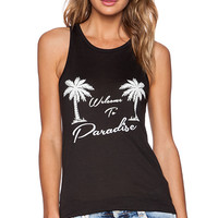 Zoe Karssen Welcome to Paradise Classic Tank in Black